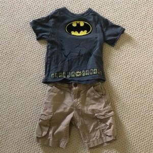 Other - 3t Toddler Batman Shirt and Cargo Shorts